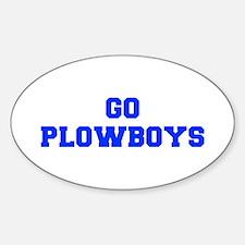 Plowboys-Fre blue Decal