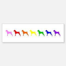 Rainbow Colored Boxers Bumper Bumper Bumper Sticker