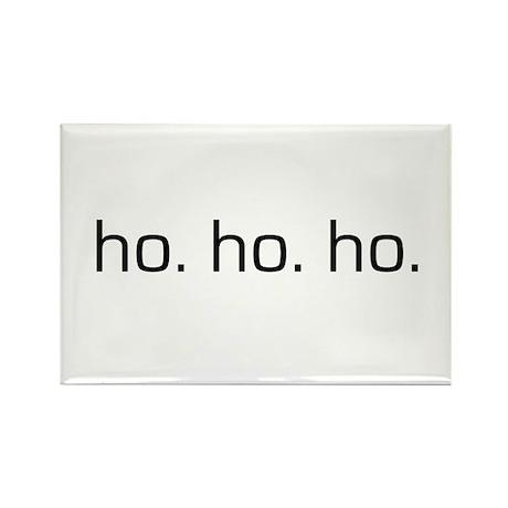 Ho Ho Ho Rectangle Magnet (10 pack)