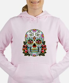 Sugar Skull 067 Women's Hooded Sweatshirt