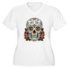 Sugar Skull 067 Plus Size T-Shirt
