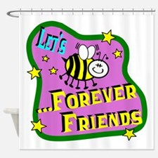 Let's Bee Friends Shower Curtain