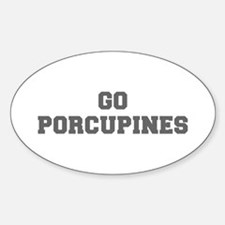 PORCUPINES-Fre gray Decal