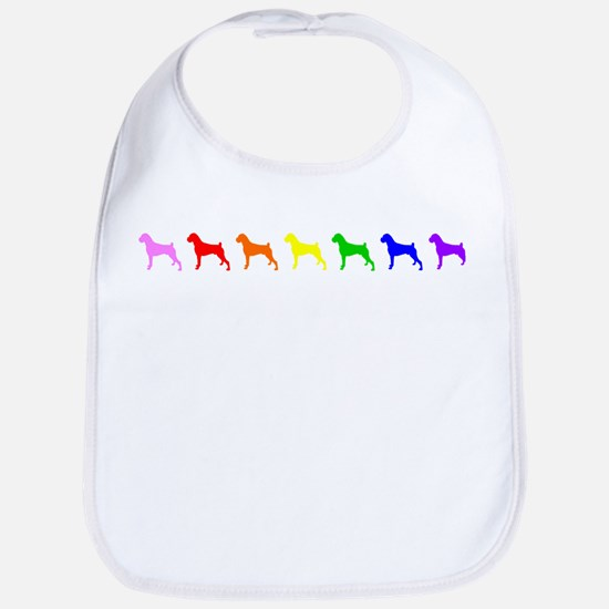 Rainbow Colored Boxers Baby Bib