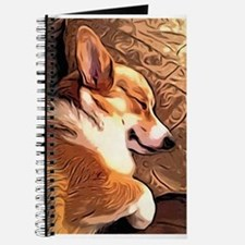 Sleepy Tricolor Corgi Journal
