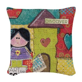 Art and Soul Woven Throw Pillow