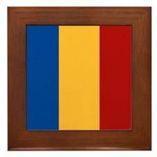 """Romania Flag"" Framed Tile"