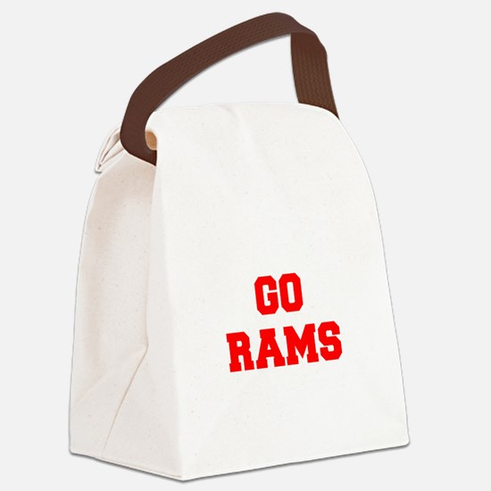 RAMS-Fre red Canvas Lunch Bag