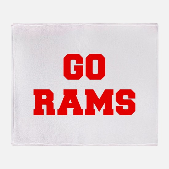 RAMS-Fre red Throw Blanket
