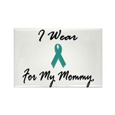 I Wear Teal For My Mommy 1 Rectangle Magnet