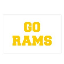 Rams-Fre yellow gold Postcards (Package of 8)