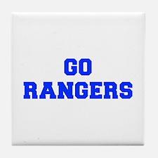 Rangers-Fre blue Tile Coaster