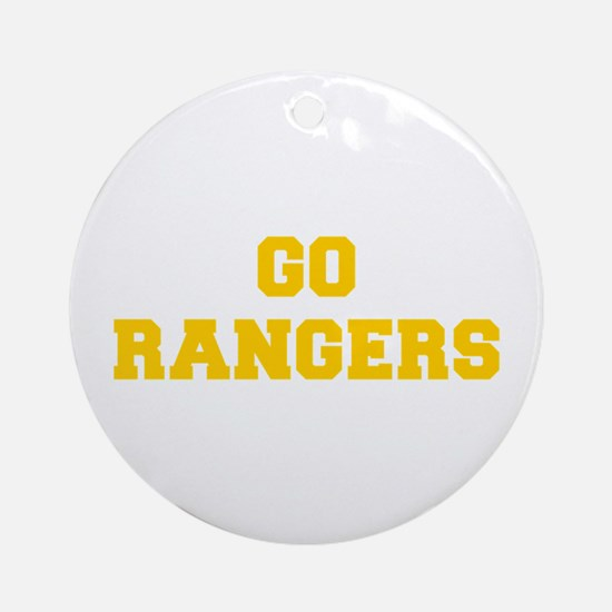 Rangers-Fre yellow gold Ornament (Round)