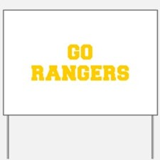 Rangers-Fre yellow gold Yard Sign