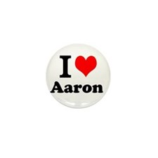 I Love Aaron Mini Button (10 pack)