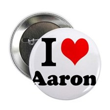 """I Love Aaron 2.25"""" Button (10 pack)"""