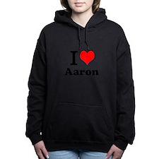 I Love Aaron Women's Hooded Sweatshirt