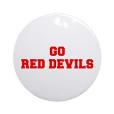 RED DEVILS-Fre red Ornament (Round)