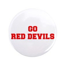 """RED DEVILS-Fre red 3.5"""" Button (100 pack)"""