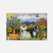French Bulldog Picnic Rectangle Magnet