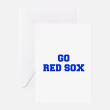 red sox-Fre blue Greeting Cards