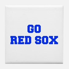 red sox-Fre blue Tile Coaster