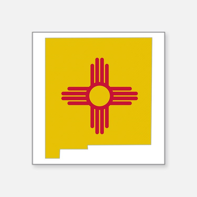 "Cute New mexico flag Square Sticker 3"" x 3"""