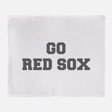 RED SOX-Fre gray Throw Blanket