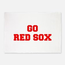 RED SOX-Fre red 5'x7'Area Rug