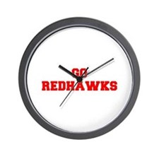 REDHAWKS-Fre red Wall Clock