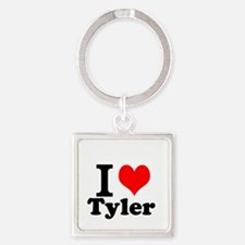 I Love Tyler Keychains