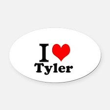 I Love Tyler Oval Car Magnet