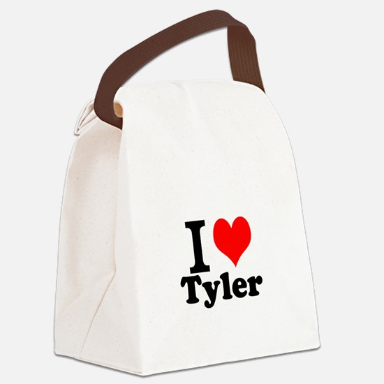 I Love Tyler Canvas Lunch Bag