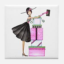 Shopping Chic Tile Coaster