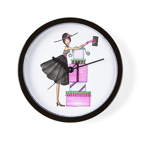 Shopping Chic Wall Clock