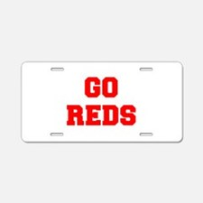 REDS-Fre red Aluminum License Plate