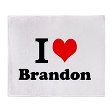 I Love Brandon Throw Blanket