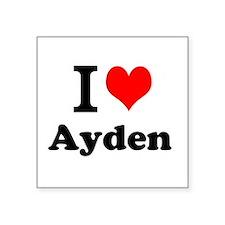 I Love Ayden Sticker
