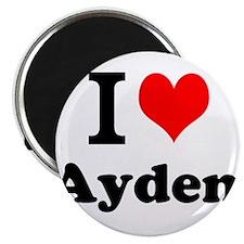I Love Ayden Magnets