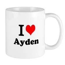 I Love Ayden Mugs