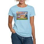 Cloud Angel & Greyound Women's Light T-Shirt