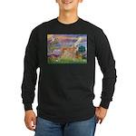 Cloud Angel & Greyound Long Sleeve Dark T-Shirt