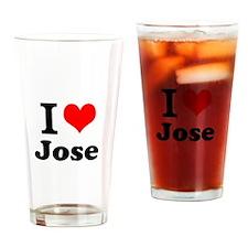 I Love Jose Drinking Glass
