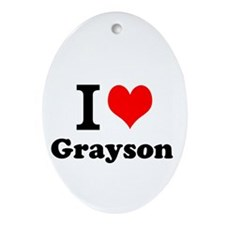 I Love Grayson Ornament (Oval)