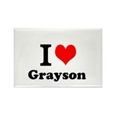 I Love Grayson Magnets