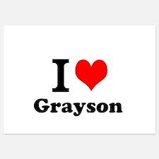 I Love Grayson Invitations