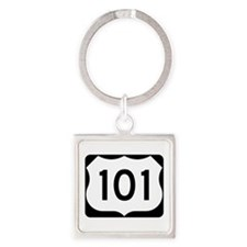 US Route 101 Square Keychain