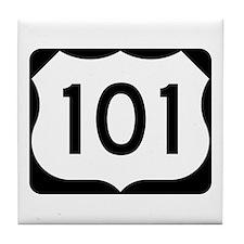 US Route 101 Tile Coaster