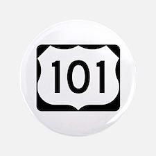 "US Route 101 3.5"" Button"