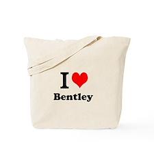 I Love Bentley Tote Bag